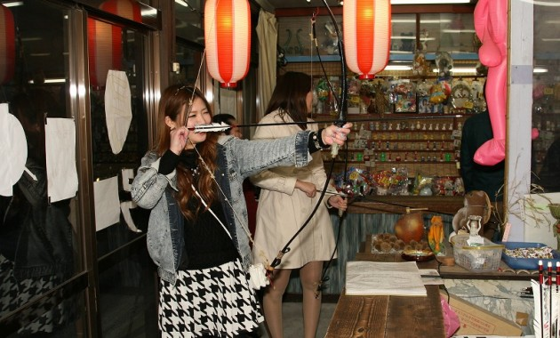 伊香保で射的、弓道を体験!